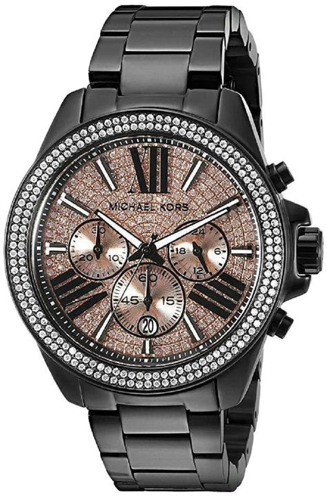 Michael Kors Watches Collection 2018 / 2019 : Michael Kors Women's Wren Black Watch >>> You can find more details by visiting the image link. (This is an affiliate link) - Watches Topia - Watches: Best Lists, Trends & the Latest Styles