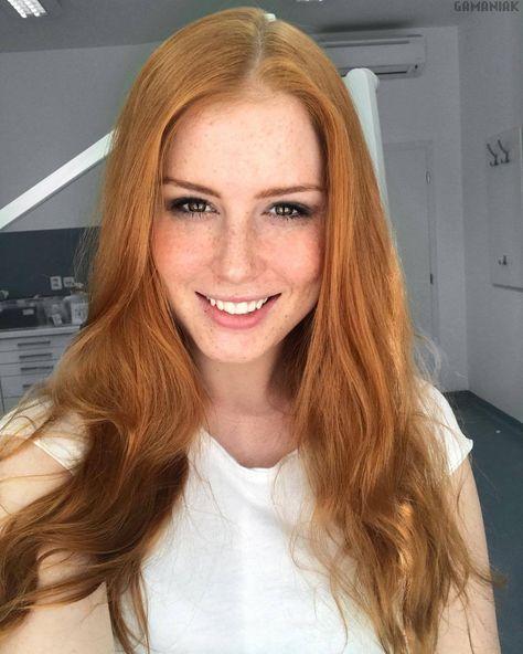 hot redhead selfie