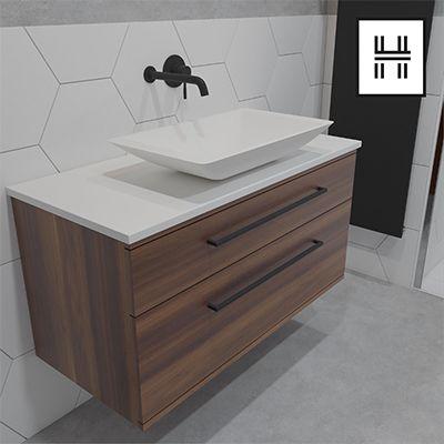 Iker Basin Tap Soak Com Wooden Bathroom Vanity Vanity Units Wall Mounted Vanity