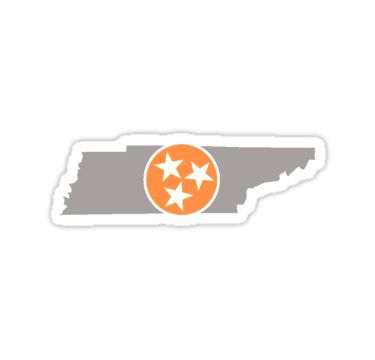 Tennessee State Outline With Tri Star By Morgan Turrentine Tri Star Tennessee Outline State Outline