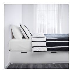 Nordli Bed Frame With Storage White Bed Frame With Storage