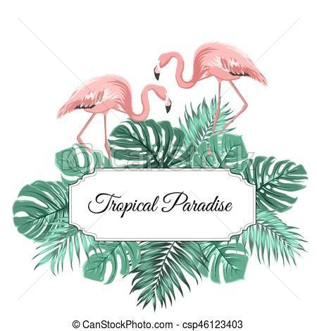 banniere cadre paradis tropical