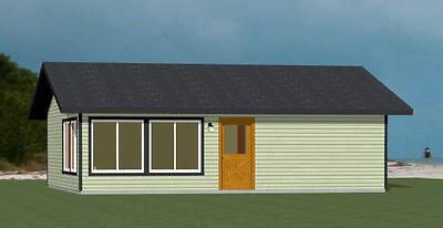 Details About 30x26 House 1 Bedroom 1 Bath 780 Sq Ft Pdf Floor Plan Model 1 In 2020 Small House Plans Floor Plans House Plans