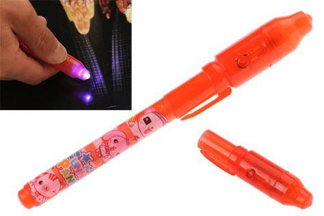 UV Invisible Ink Marker Spy Pen Ultraviolet LED Currency Detector