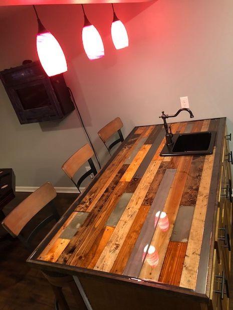 Diy Bar Countertop Bar Countertops Diy Countertops Diy Bar