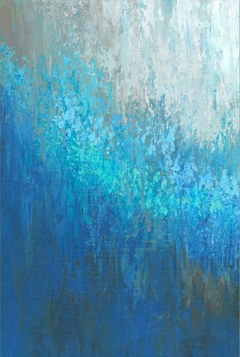 Aqua Blue And Brown Wall Art Large Abstract 3 Panel Canvas Art