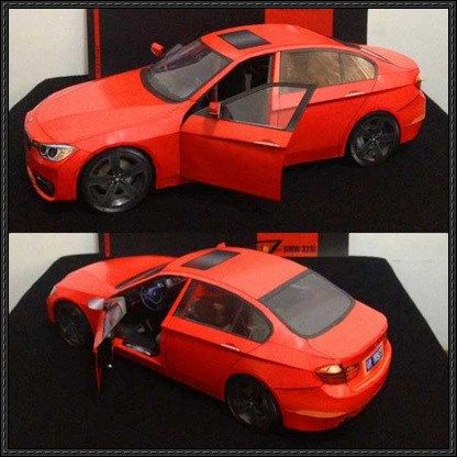 New Paper Craft Bmw 328i Paper Car Free Vehicle Paper Model