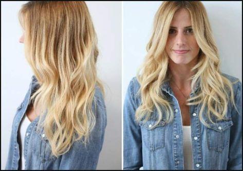 Langhaarfrisuren blond