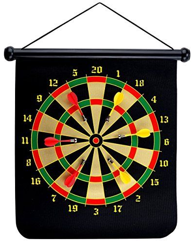 Themoemoe 15 Magnetic Dart Boards Sets With 6 Reversible Darts