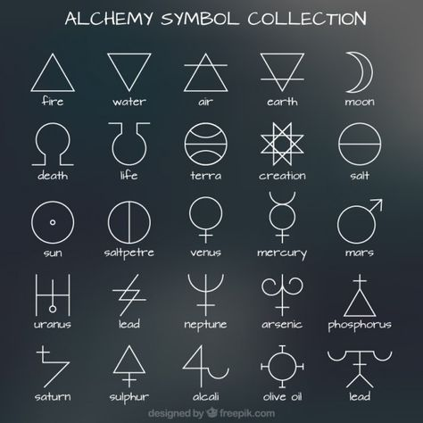 Collection Of Alchemy Symbol