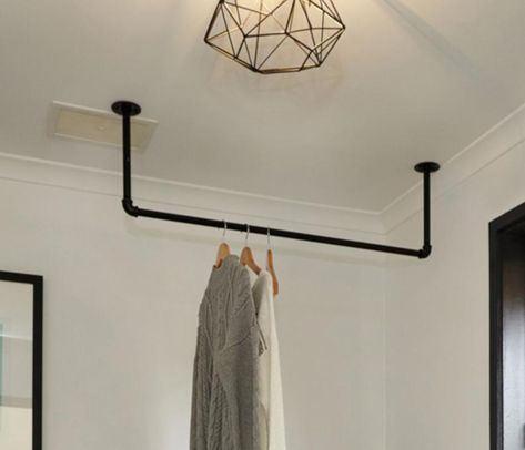 Farmhouse Laundry Room Rack, Drying Rack, Clothes Drying Bar, Towel Bar, Rustic Entryway Rack, Industrial bar and clothes hanger, quilt rack