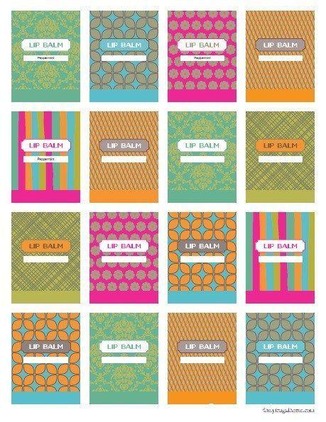 Printable Lip Balm Labels Homemadeskincarerecipes Lip Balm Labels Lip Balm Labels Template Lip Balm Tube Labels