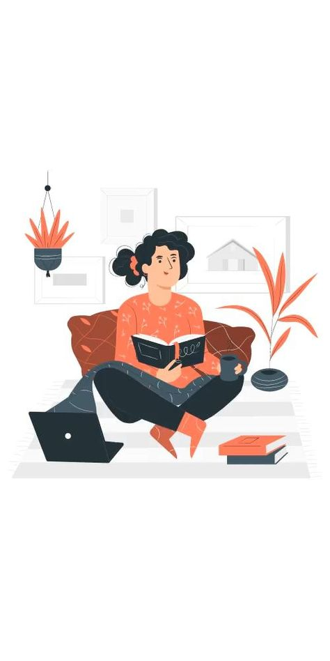 Stay at home illustration in pana style. Check out this concept in other styles. Customize, animate, and download in different formats to use in any kind of project. Visit us at stories.freepik.com! #storiesbyfreepik #freepik #freepikcompany #stayathome