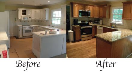 mobile home kitchen remodel before and after home painting