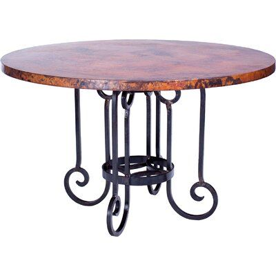 Prima Design Source Curled Dining Table Size 30 H X 60 W X 60
