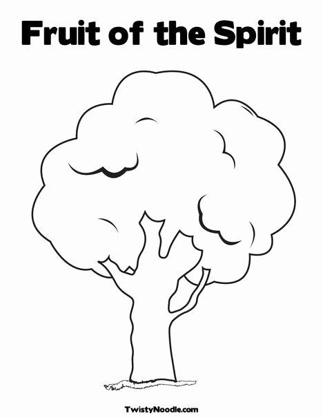 Fruit Of The Spirit Coloring Page Unique Easy Blank Tree For