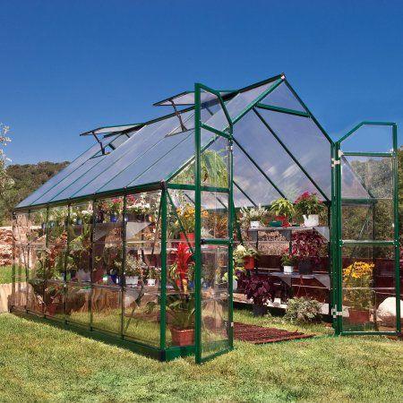 Palram Balance Greenhouse, 8' x 12', Green