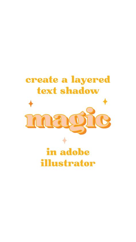 ✨How to Add A Layered Text Shadow in Adobe Illustrator: