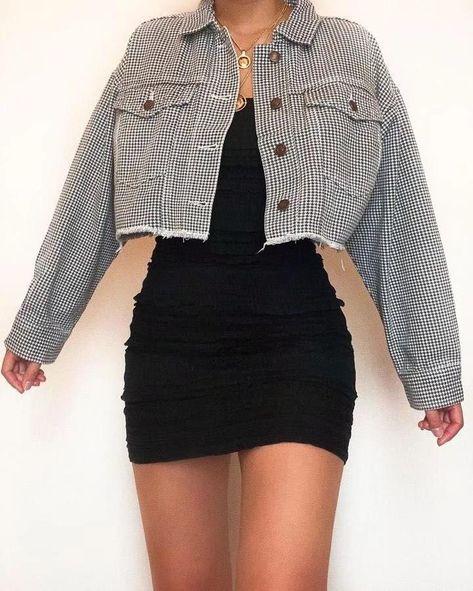 Aesthetic Clothing Retro - Vsco Girl Plaid Jacket