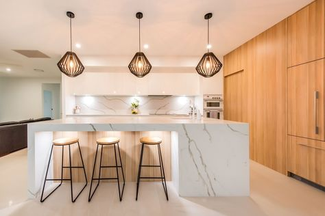 Kitchen Bathroom Benchtop Inspiration Waterfall Island Kitchen Kitchen Renovation Kitchen Design