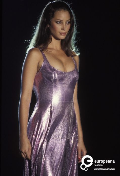 Christy Turlington walked for Atelier Versace Couture 1994