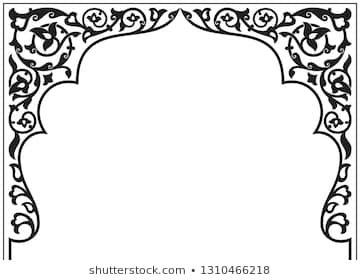Tatar And Persian Traditional Ornamental Floral Arch Oriental Style Persian Islamic Pattern High Quality Ha Mandala Design Art Islamic Wall Decor Islamic Art