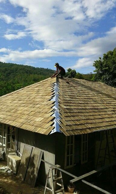 Bamboo Shingle Roof Roofingshingles Bamboo Roof Roofing Bamboo Architecture