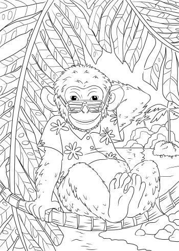 Omeletozeu Monkey Coloring Pages Coloring Books Free Adult Coloring Pages