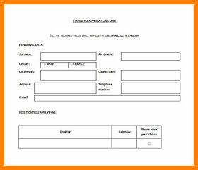 Simple Leaves Application Form Template Free Resume Template