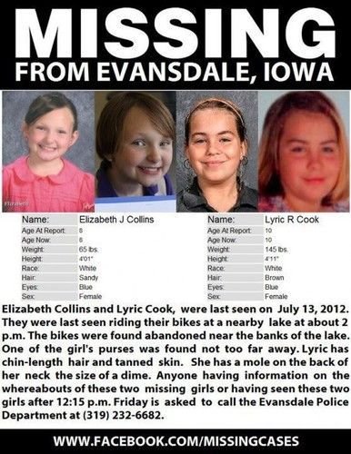 Iowa Girlsu0027 Disappearance Is So Mysterious Cops Canu0027t Even Issue - missing child poster template