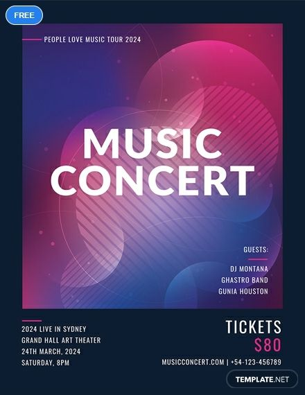 Concert Ticket Invitations Template Free Concert Ticket