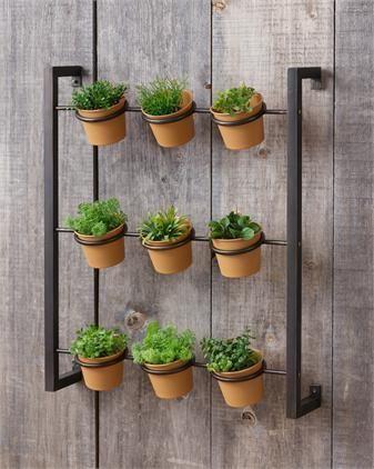 Metal Herb Planter Vertical Garden Diy Vertical Herb Garden Herb Wall