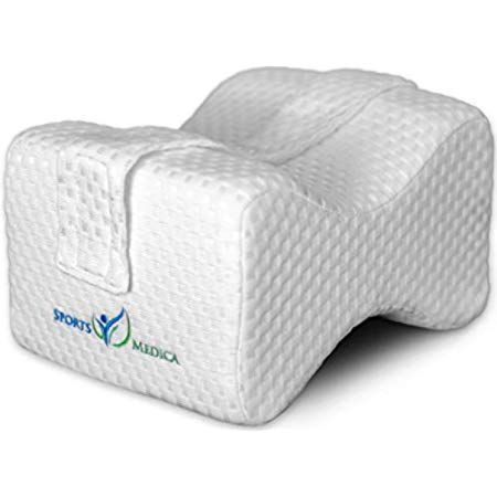 Leg Knee Pillow 100/% Pure Memory Foam Adjustable Removable Strap and Ear Plugs