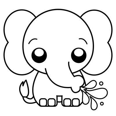 Como Dibujar Un Elefante Kawaii Comodibujar Club Dibujo De Elefante Imagenes Kawaii Imagen Elefante