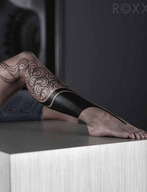 Leg tattoos, tattoo motifs for women, black, cool tattoo ideas - diy tattoo images - Tattoo Designs For Women