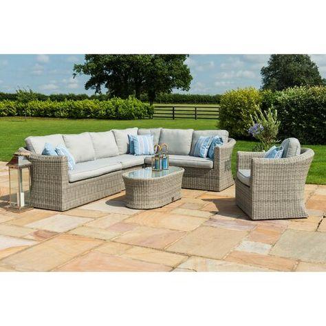 Sol 72 Outdoor Mombert 7 Seater Rattan Corner Sofa Set In