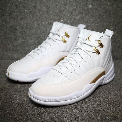 air jordan 12 retro ovo white metallic gold white