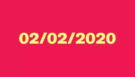 """02/02/2020 é a penúltima data palíndromo do século ;;;quando a sequência de números de dia, mês e ano pode ser lida em qualquer ordem: da direita para a esquerda, e da esquerda para a direita, sem que o significado se altere.  O """"fenômeno"""", também conhecido como capicua, é raro: só acontecerá mais uma vez neste século, no dia 22 de fevereiro de 2022 (22/02/2022). Depois, só quem estiver vivo em 21 de dezembro de 2112 (21/12/2112) poderá presenciar novamente. A primeira data palíndromo do século"""