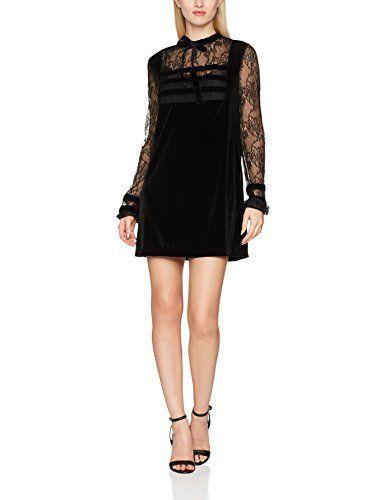separation shoes 847a6 dee04 Fornarina Laure Vestito Elegante Donna Nero (Black 00) S ...