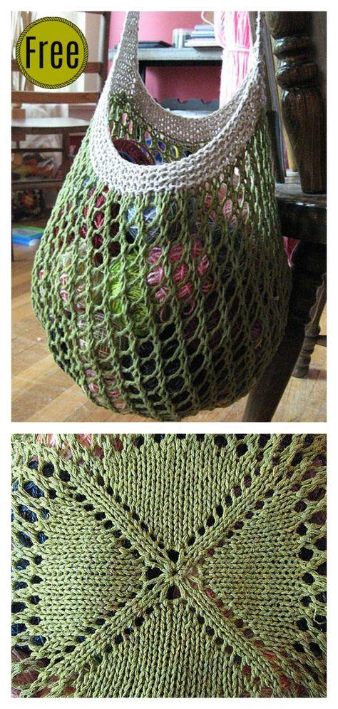6 Market Bag Free Knitting Patterns