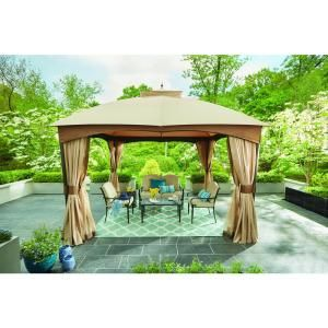 Hampton Bay 10 Ft X 10 Ft Outdoor Patio Cottleville Gazebo Gfs00744a The Home Depot In 2020 Patio Gazebo Gazebo Outdoor Patio