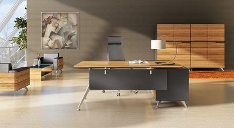 Zebrano Desk And Storage Cabinet