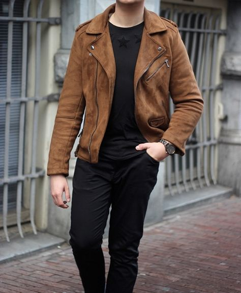 Men Tan brown Suede biker Jacket, Men brown suede moto Jacket, Mens Jackets sold by Rangoli Collection. Shop more products from Rangoli Collection on Storenvy, the home of independent small businesses all over the world.