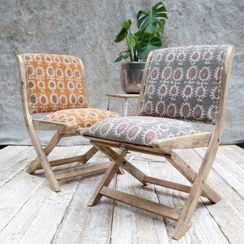 Astounding Upholstered Folding Mango Wood Chair In 2019 Georgian Camellatalisay Diy Chair Ideas Camellatalisaycom