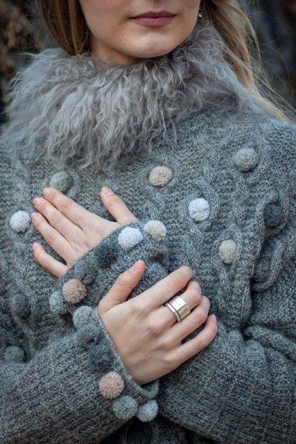 PomPom genser   Garnpakker med strikkeoppskrifter fra Sidsel