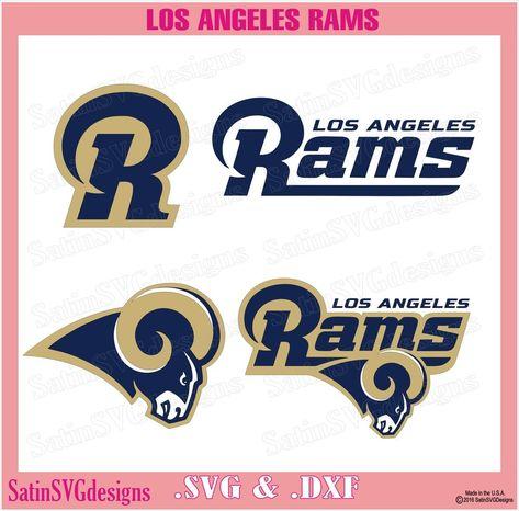Los Angeles Rams Design Set SVG Files, NFL Football - Cricut, Silhouette Studio, Digital Cut Files