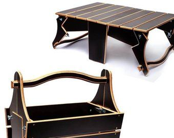 Folding Beach Picnic Table Portable Low Basket Plywood Table Etsy In 2020 Plywood Table Wine Picnic Table Portable Picnic Table