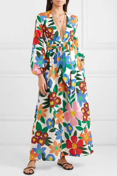 Mara Hoffman Luna Floral Print Organic Cotton Maxi Dress