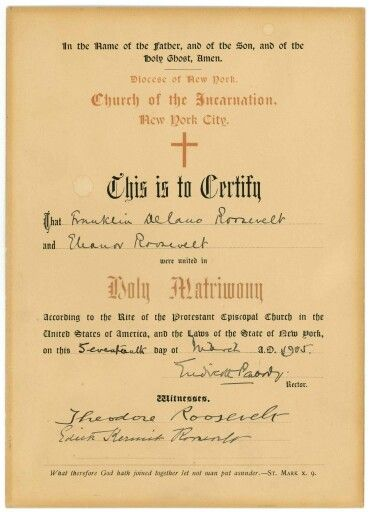 Marriage Certificate FDR Pinterest - certificate sayings