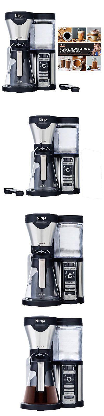 Filter Coffee Machines 184665 Ninja Cf080 Coffee Bar Auto Iq 1 Touch Maker With Glass Carafe 100 Recipe Book Filter Coffee Machine Glass Carafe Coffee Bar